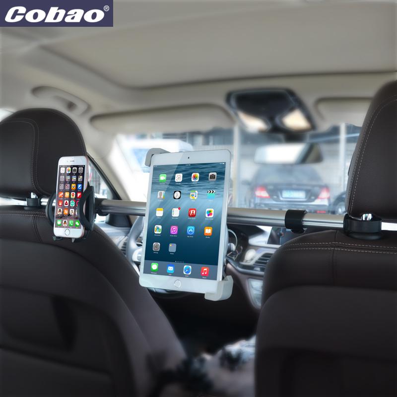 Prix pour Universel aluminium 7 8 9 10 11 pouce tablet PC stand haute qualité appui-tête tablet titulaire support de voiture adapté pour ipad mini