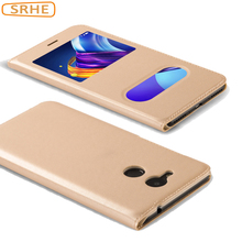 Huawei Honor 6C Pro Case Flip Luxury PU Leather Business Cover For Huawei Honor V9 Play Coque Funda Open Window Phone Case
