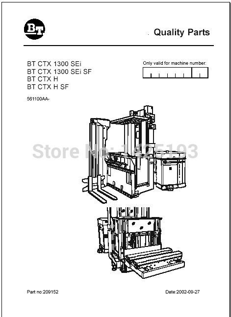 BT Forklifts Spare Parts PDF 2012 For Toyota-in Software