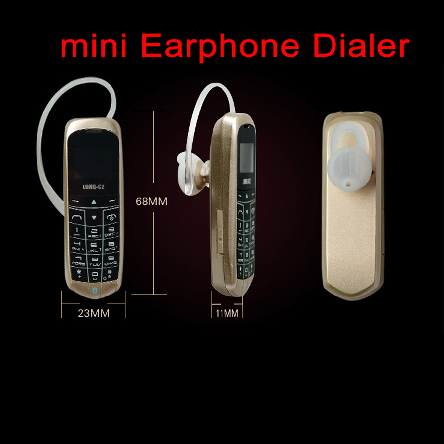 LONG-CZ J8 mini Earphone Dialer Bluetooth 3.0 Wireless Cellphone Mobile Phone Stereo Headset 32MB Memory Headphone pk BM50 ...