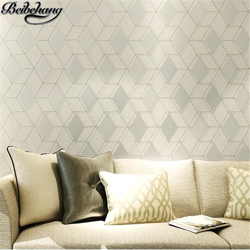 beibehang 3D Stereo Nonwovens Wallpapers Modern Simple Bedroom Living Room TV Walls Walls Flocking Wallpapers papel de parede beibehang warm european bedroom wallpapers 4d stereo nonwovens wallpapers living room tv background wallpapers