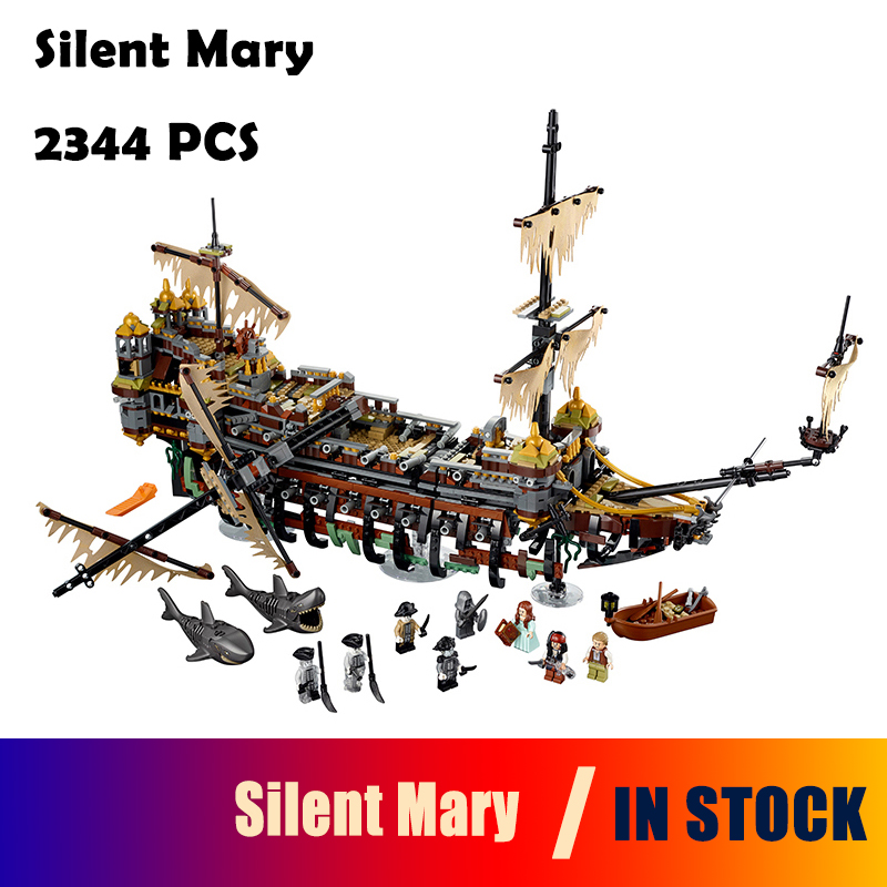 Model Building Blocks toys 16042 2344PCS Slient Mary compatible with lego Pirate Series 71042 Educational DIY toys hobbies lepin 16042 2344pcs the slient mary set new pirate ship series children educational building blocks bricks toys model gift 71042