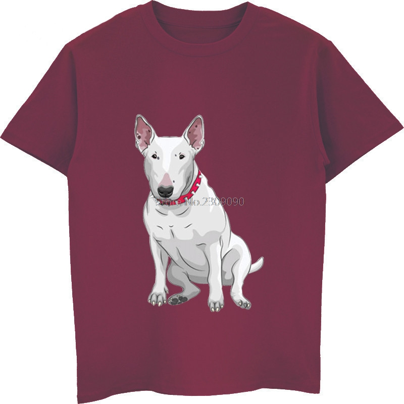 abda9dea Funny Bull Terrier Dog Fashion Print T shirt Summer Hot Sell Men's Cotton T  Shirt Male Short Sleeve O neck Shirts Unisex Tees-in T-Shirts from Men's ...