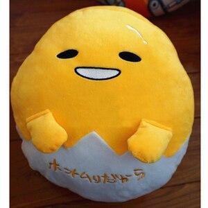 Image 5 - Kawaii ogrzewacz dłoni Gudetama leniwy jajko pluszowa poduszka koc obsadzone jajko Jun żółtko brat zabawka lalka śliczna miękka poduszka