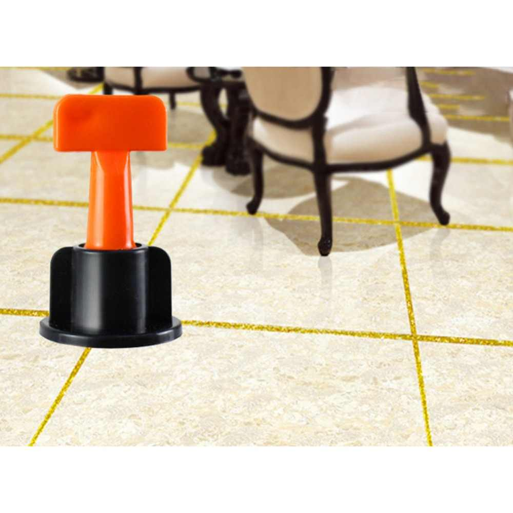 50pcs Reusable ระบบปรับระดับกระเบื้อง Locator เครื่องมือ Anti-Lippage ระดับ wedges tile spacers สำหรับพื้นกระเบื้อง Leveling ระบบ