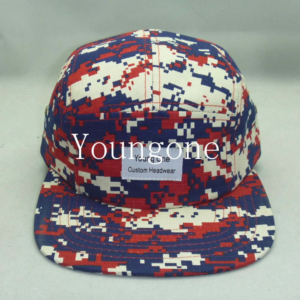 992e0bc4610cf Youngone custom headwear Supreme style 6 Panel snapback hat ribstop digital  camo and baseabll hat with red PU brim sport cap-in Baseball Caps from  Apparel ...