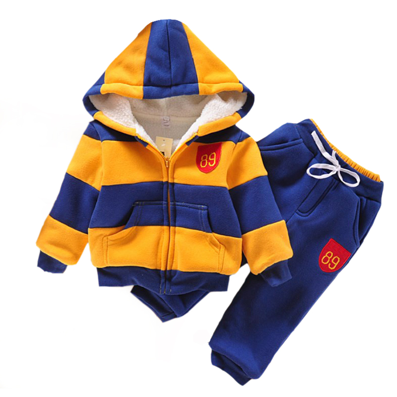baby boy clothes kids clothes sports suit for boys winter clothing set girls clothes Plus Velvet Thicken Children's clothing eaboutique new winter boys clothes sports suit fashion letter print cotton baby boy clothing set kids tracksuit