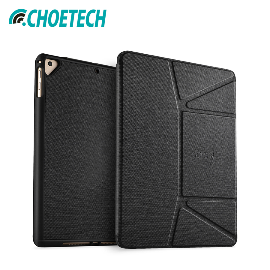 CHOETECH Protective Case Cover For iPad 9.7 2018/2017 Tablet Stable Stand With Soft Flexible TPU Back Cover For iPad Air/Air 2