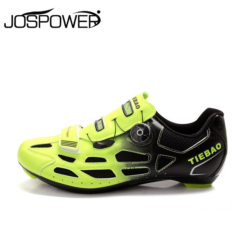 Tiebao Road Bike Cycling Shoes Men Women Racing Bicycle Self-Lock Athletic Shoe With Fast Tuning Knob Laces zapatillas ciclismo
