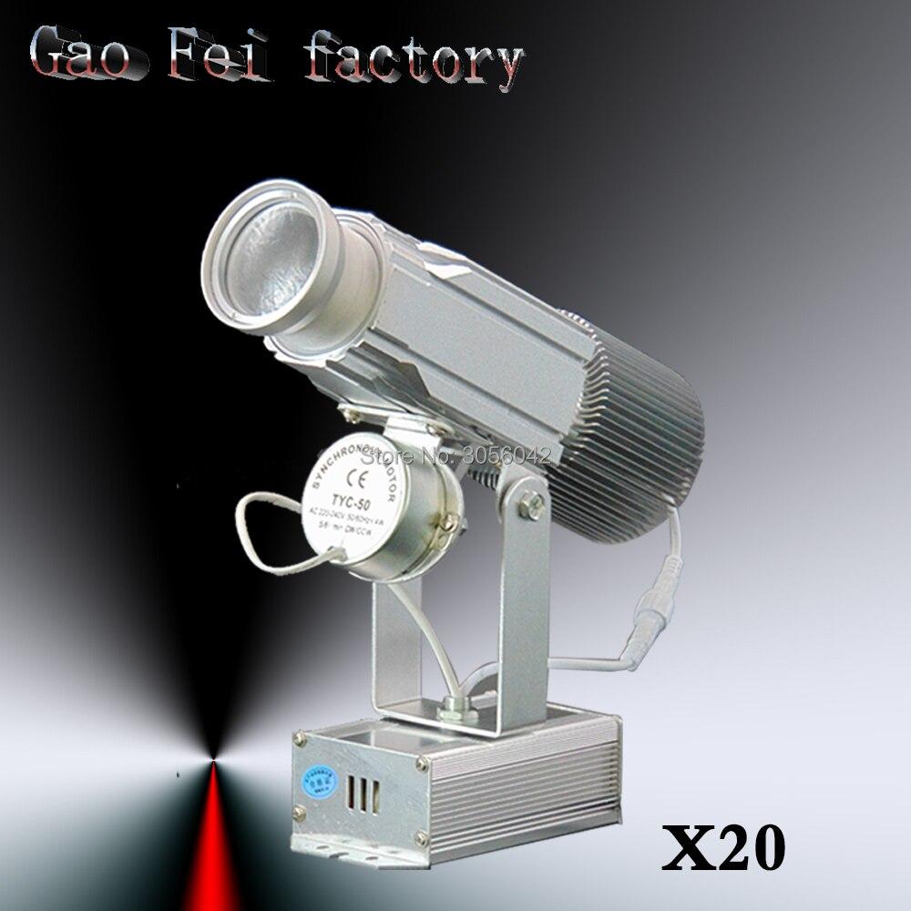 20PCS/LOT LED Logo lamps 30W lumens Dynamic Gobo spotlight Rotating custom 20pcs lot mdd2601 to252