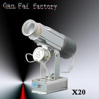 20PCS/LOT LED Logo lamps 30W lumens Dynamic Gobo spotlight Rotating custom