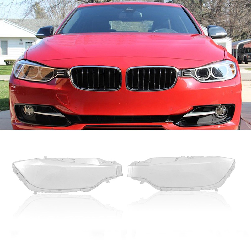 цена 1 Pair Front L&R Headlight Lens Covers for 2013-2016 For BMW F30 F31 3 series Headlight Case Automobiles Kit Car Styling NEW