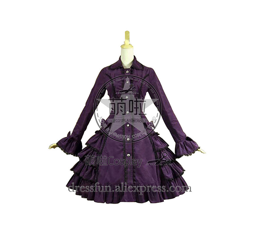 Lolita robe victorienne Lolita reconstitution scène Steampunk manteau Cosplay Costume avec élégance nœud papillon et volants décorés