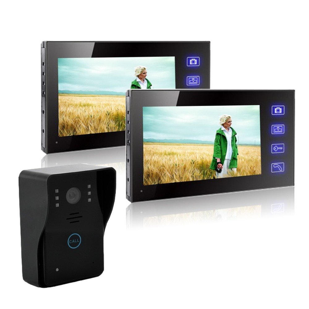 7 inches of the wireless visible talkback doorbell phone Home Security IR Camera Monitor Night Vision 150M Transmission elah maitreya the connection the visible and the invisible