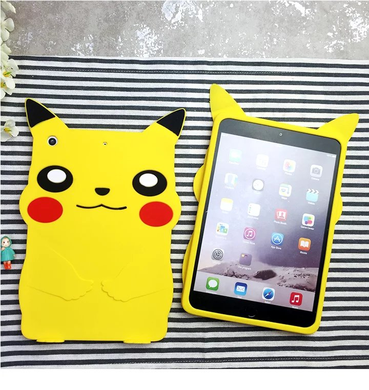 Lovely Cute Soft Silicone Cartoon Shell Mini Tablet Case,Rubber Protective Cover Cases For Apple iPad Mini 1 2 3 7.9 inch Tablet  for ipad mini 3 2 1 kids fun 3d mini cartoon car childproof silicone protective case blue