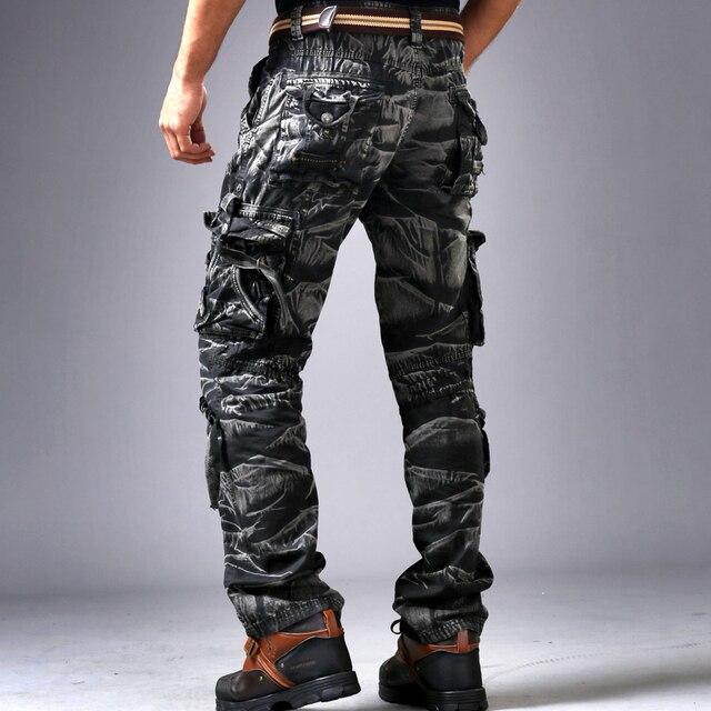 3D камуфляжной форме брюки мульти-карман брюки комбинезоны мужчин досуг сыпучих большой ярдов брюки tidedo535