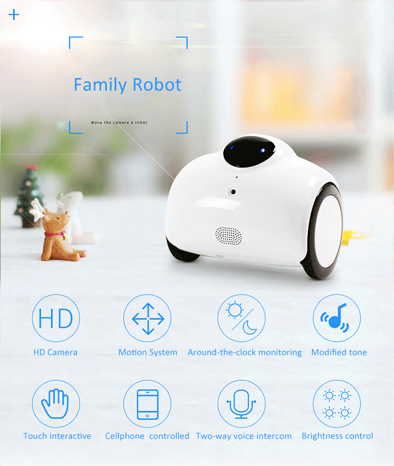 New family member smart RC robot Ranababy Patrol monitoring remote smartphone control Video car Intelligent mobile camera robot цена 2017