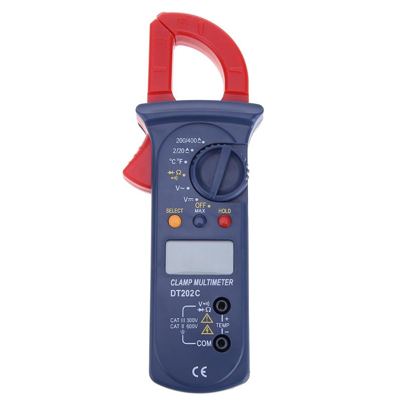 Auto Range Ammeter Digital Clamp Meter LCD Backlight Current Voltage Tester Handheld Voltmeter Ohmmeter Voltage Meter mastech ms2008a auto range digital ac clamp meter ammeter voltmeter ohmmeter with lcd backlight
