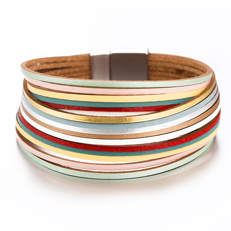 Flashbuy 5 Color Multiple Layers Bracelets For Women Vintage Magnetic Round Wrap Bracelets Charms Jewelry Femme Wrap Bracelet in Wrap Bracelets from Jewelry Accessories