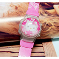 XINJIA Cute Girl hello kitty LED Electronic Watches Children 's Cartoon Watch Silicone Clamshell Digital Wristwatches KT-06