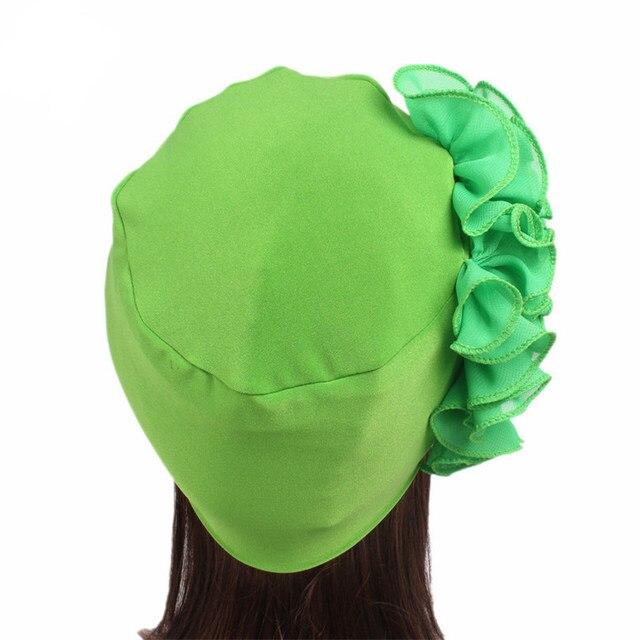 Haimeikang Autumn Winter Turban Hair Bands Indian Hat Chiffon Flower Chemo  Cap Headwrap Lady Elastic Headbands Hair Accessories efa7788f1f83