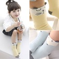 Cartoon Newborn Cotton Fox Cat Printed Anti-slip Knee Socks Kids Baby Socks