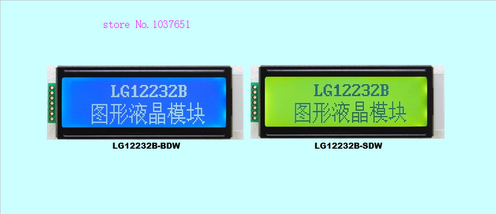 Small mini size SPI serial 12232 122X32 LCD display LCM Laurel LG12232B
