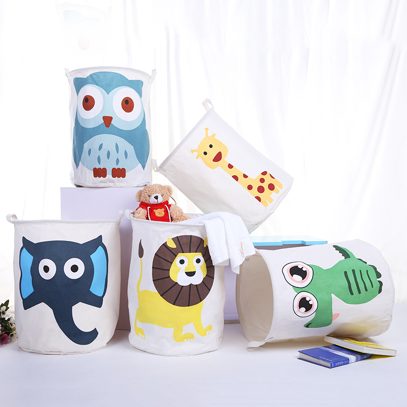 Cartoon  Fabric Foldable Waterproof Storage Basket For Toy Dirty Laundry Basket Bag Clothes Toys Storage Box Sundries Storage