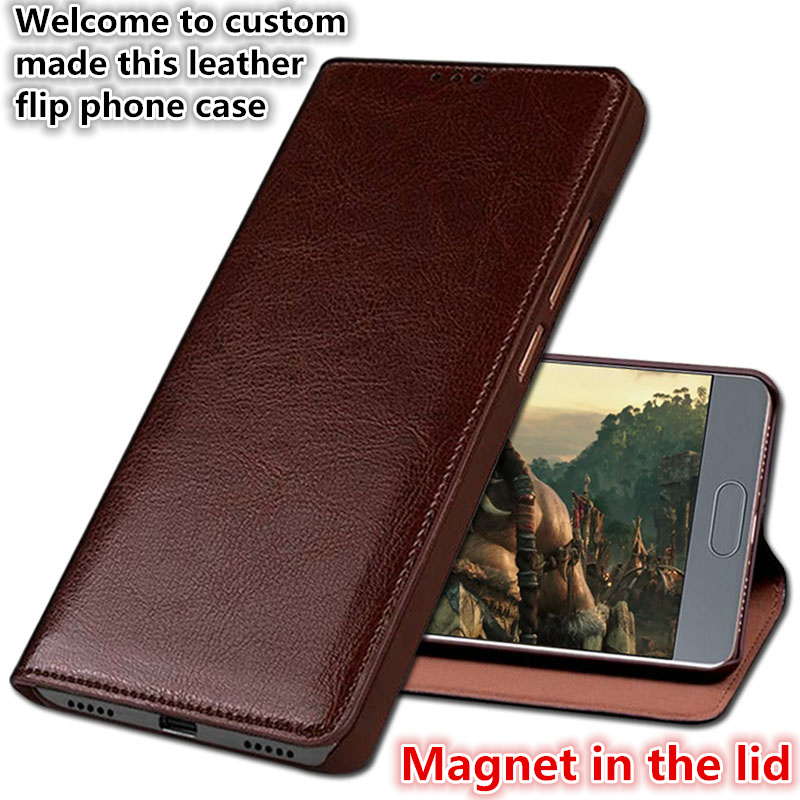 HY06 Luxury Genuine Leather Flip Coque Phone Cover For OPPO R15 Dream Mirror Phone Case For OPPO R15 Pro Cover Case