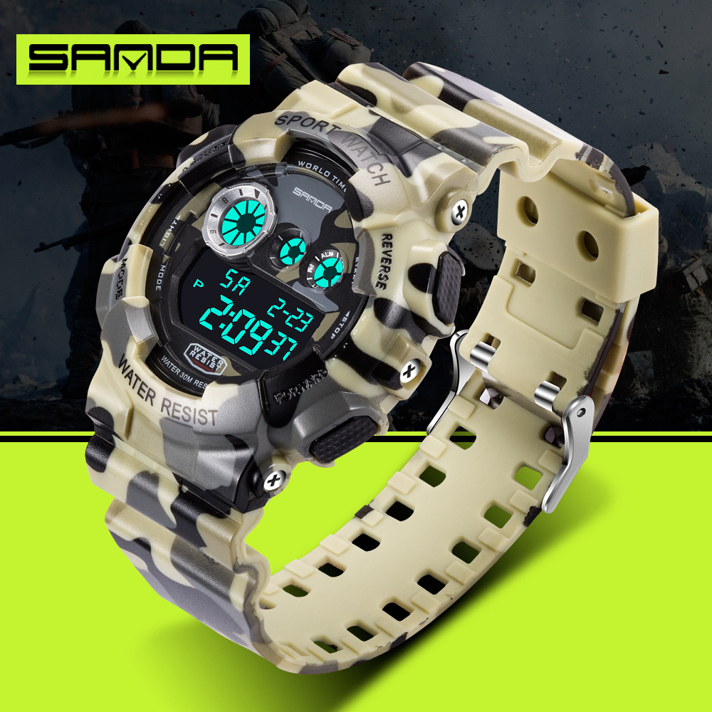 2016 Digital-relógio G Estilo dos homens da Marca de Moda Ao Ar Livre Esportes Masculino Relógios Choque Relógios Homens Militar Digitais À Prova D' Água relógio