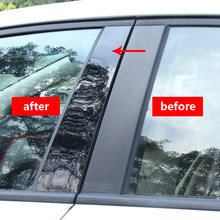 6pc for KIA K2 2008-2016 (saloon) / K2 2017 / K3 / / K4 / K5 2011-2015 / K5 2016-2017/KX3/KX5 Window trim Central column sticker(China)