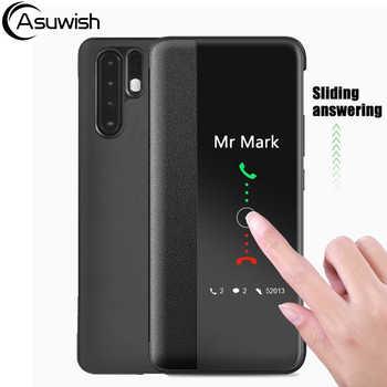 Housse de protection En Cuir Téléphone étui pour huawei P30 Pro P30pro P20 Lite P10 Plus P 30 20 10 P10plus P20lite P20pro Smart View Cas