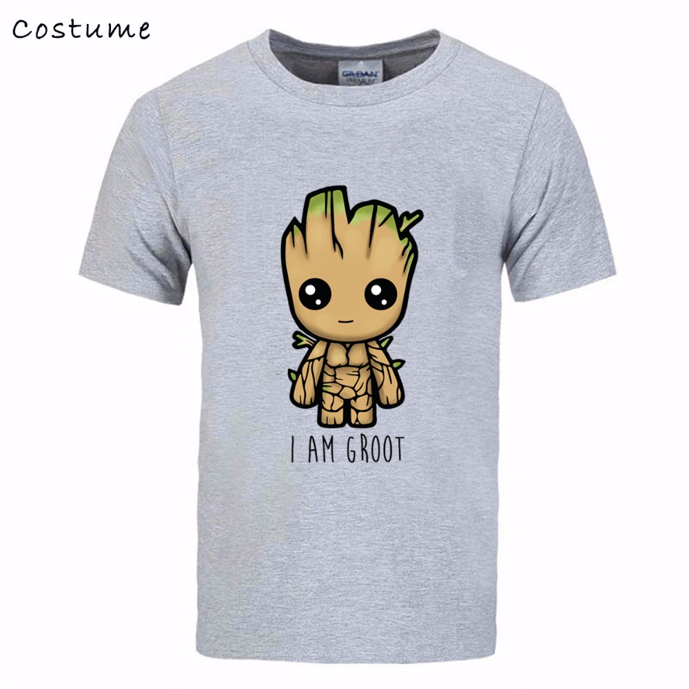 I Am 3D print Tee Shirt Mens Printing Short Sleeve Crewneck Cotton Couple Guardians Galaxy male T tshirt