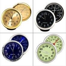 Luminous Car SUV Mechanics Quartz Clock Digital Pointer for Car Auto Time Watch Digital clock Thermometer Black Blue Gold Green