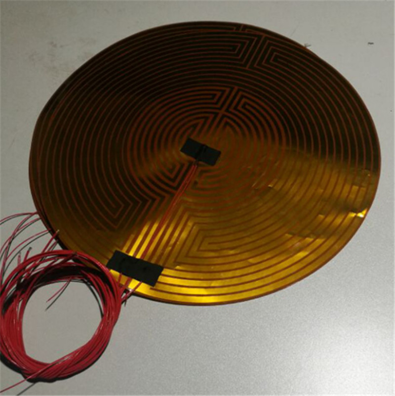 350/400mm 24 v 300 W PI thermistance de lit chauffant rond Kossel/Delta/Rostock pièces de lit chauffant d'imprimante 3D