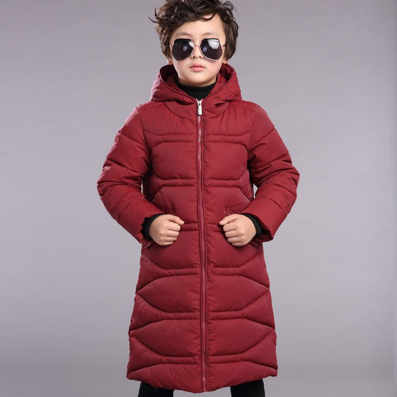 New 2017 Winter Boys Down Coats Jackets Warm Fashion X-long Outerwear Parkas For Kids Overcoats Winter Jacket Boy 10 11 12 13 14 new 2017 russia winter boys clothing warm jacket for kids thick coats high quality overalls for boy down