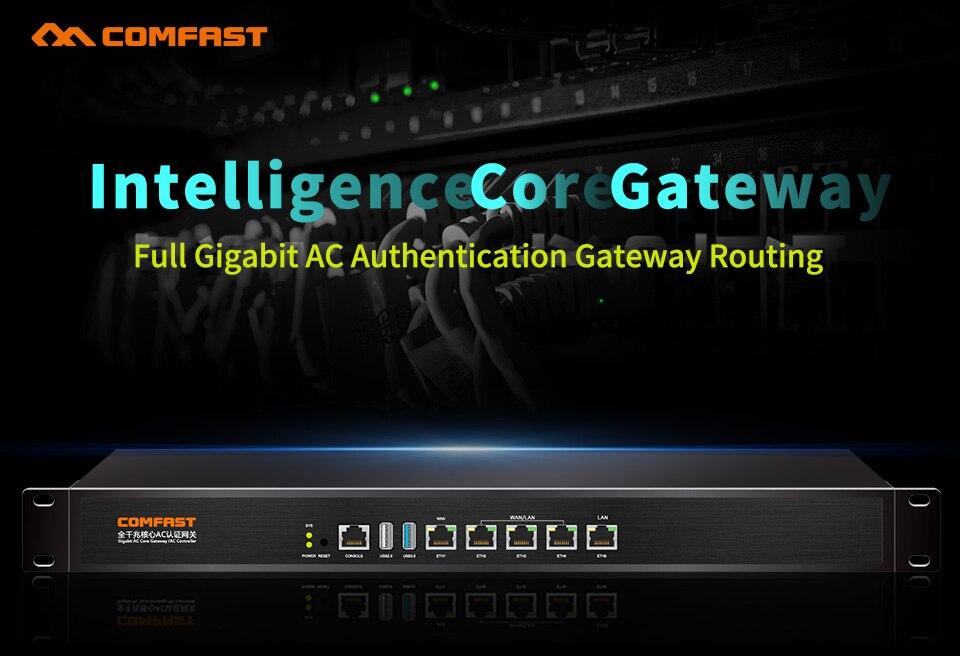 CF-AC200 Comfast 4 ports LAN Gigabit Wifi routeur ca passerelle de sécurité d'entreprise double WAN Multi WAN/Balance de charge QoS serveur PoE