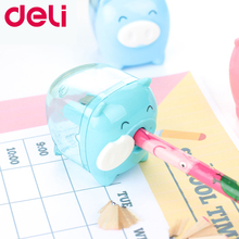 Deli Pig Pencil Sharpeners 4 Colors Stationery School Office Supplies Mechanical Cute Pencil Sharpener School Student Kid Pencil цена в Москве и Питере