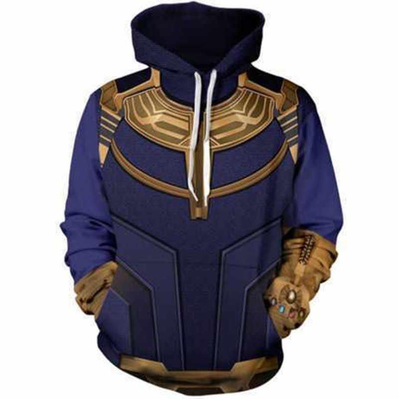 Thanos hoodie moletom com capuz thanos 2018 avengers infinity war moletom com capuz das mulheres dos homens da moda
