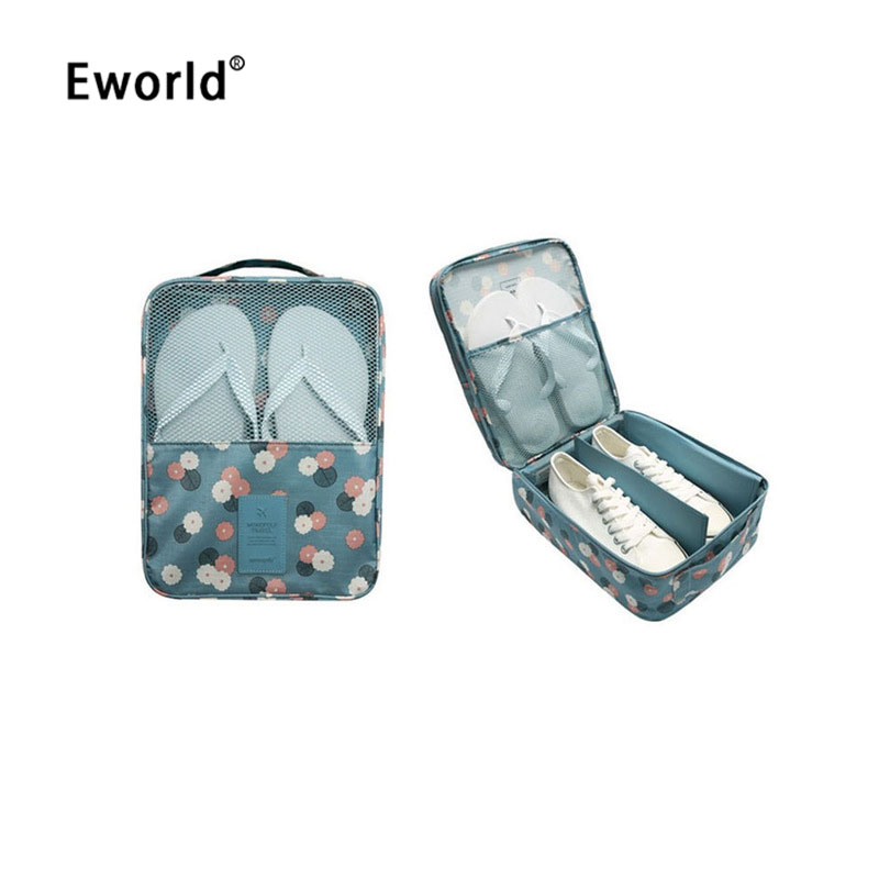 Eworld Pouch Storage-Bag Shoes Portable Zipper Nylon For Travel Pocket-Packing-Cubes
