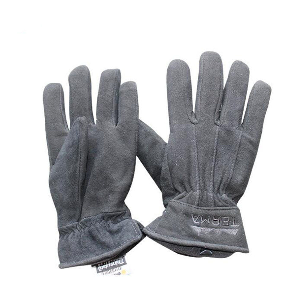 Men Work Driver Gloves Cowhide Leather Security Protection Wear Safety Working Climbing Outdoor Sports Gloves For Men