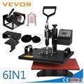 VEVOR Горячая продажа новый дизайн 6 в 1 термопресс печатная машина