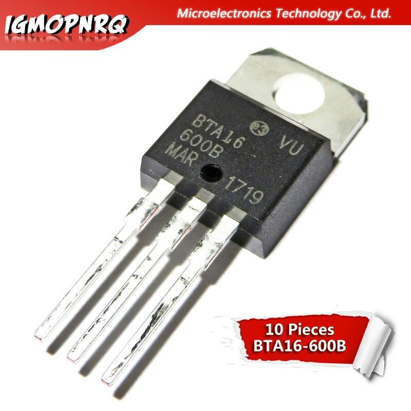 10PCS BTA16-600B 16 A Triac 600 V TO-220