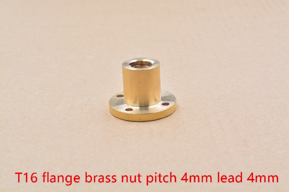 304 stainless steel T16 trapezoidal screw nut flange brass  lead 4mm 1pcs304 stainless steel T16 trapezoidal screw nut flange brass  lead 4mm 1pcs
