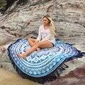 Nuevo india mandala mandala tapiz alfombra de poliéster encantos del estilo de bohemia borla de yoga mat toalla servilleta de plage playa