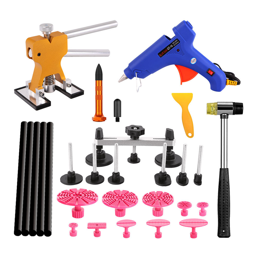 WHDZ PDR Tools Rubber Hammer Tap Down Tools Aluminum Knock Down Pen Hand Tools For Paintless Dent Repair Tools Kit set adjustable pdr repair tools set tap down 9heads rubber hammer paintless dent tool multi function rubber hammer