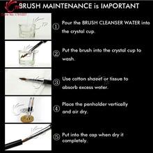 TP 1pc#6#8#10#12 Animal Kolinsky Hair Nail Brush Rhinestones Handle Nail Art Acrylic Brush Pen For UV Gel Polish Manicure Tools