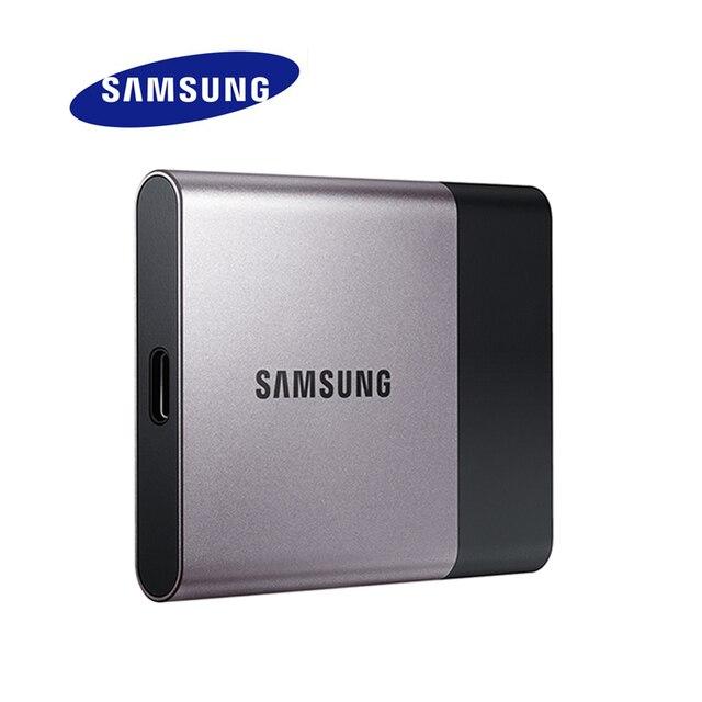 SAMSUNG SSD HDD USB 3.1 USB3.0 250 ГБ T3 Внешний Твердотельный жесткий Диск HD 250 ГБ для Настольных Портативных ПК 100