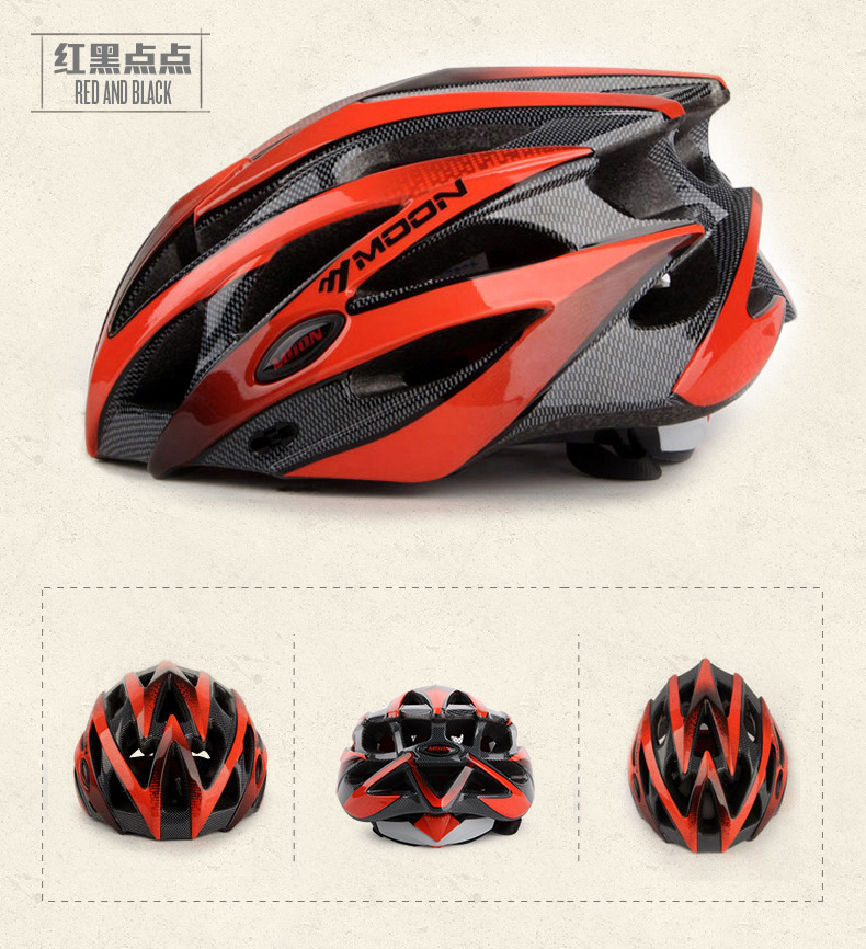 MOON Cycling Helmet Bicycle Helmet Cycling Helmet Adult Mountain Bike Helmet Sports Protective Gear(China)