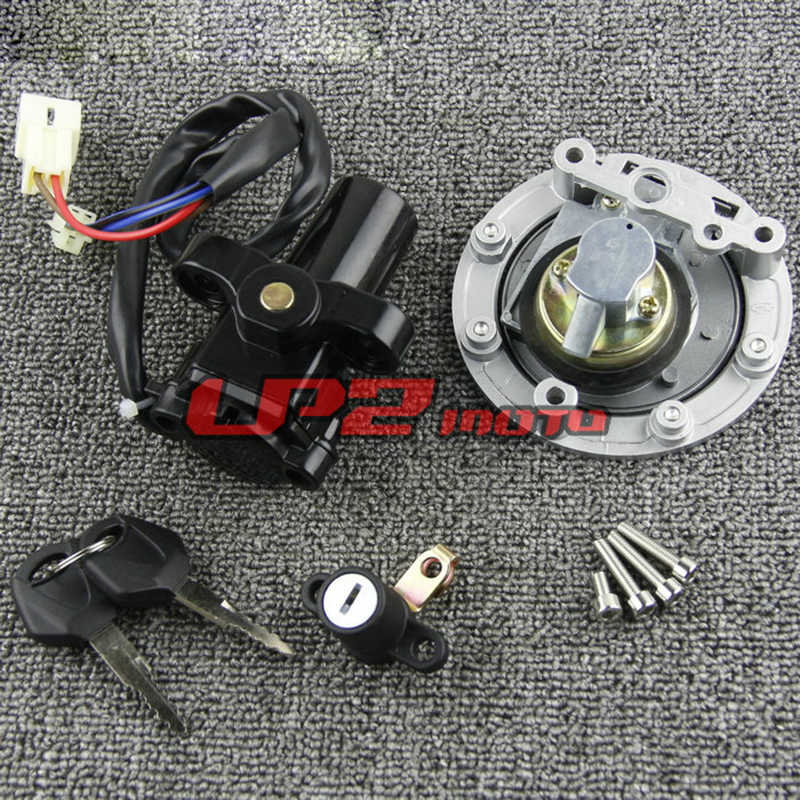 Fuel Gas Cap Ignition Switch Seat Lock With Key Kit For Yamaha YZF R1 R6 2001- 2012
